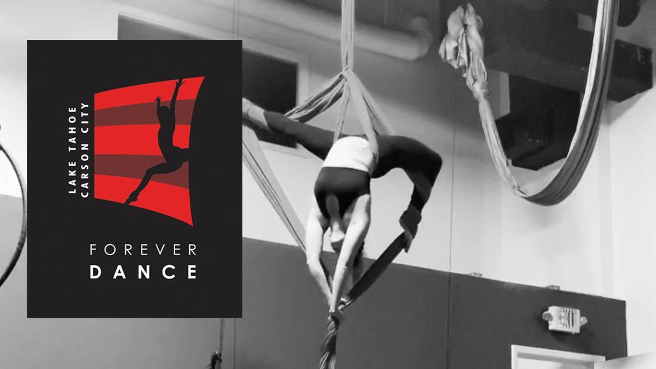 aerial silks at Forever Dance Nevada